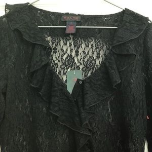 Ralph Lauren Lace Wild Frontier Black Crop Top S